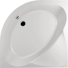 POLYSAN SELMA R55 sprchová vanička 900x900mm, čtvrtkruh, hluboká, bez nožiček, akrylát, bílá