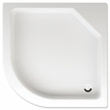TEIKO TAURUS sprchová vanička 900x900x140mm, R50cm, čtvrtkruh, akrylát, bílá