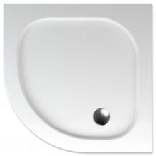 TEIKO PELEUS sprchová vanička 90x90x3,5cm, R50cm, čtvrtkruh, akrylát, bílá