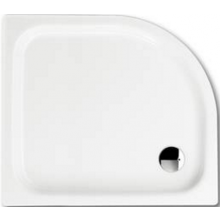 KALDEWEI ZIRKON 502-2 sprchová vanička 750x900x35mm, ocelová, čtvrtkruhová, R500mm, bílá