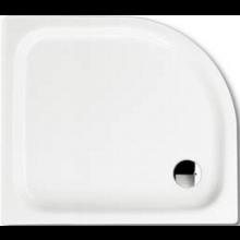 KALDEWEI ZIRKON 605-1 sprchová vanička 1000x800x35mm, ocelová, čtvrtkruhová, R500mm, bílá, Perl Effekt, Antislip 457030003001
