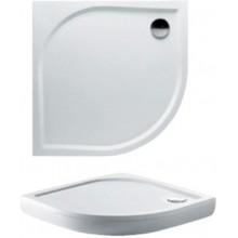 RIHO KOLPING DB18 sprchová vanička 100x100x3cm, čtvrtkruh, včetně sifonu a podpěr, litý mramor, bílá
