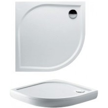 RIHO KOLPING DB10 sprchová vanička 80x80cm čtvrtkruh, včetně sifonu a podpěr, protiskluz, litý mramor, bílá