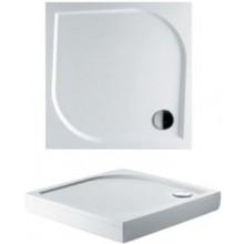 RIHO KOLPING DB20 sprchová vanička 80x80x3cm, čtverec, včetně sifonu a podpěr, litý mramor, bílá