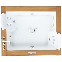 JACUZZI AURA PLUS STONE TOP masážní vana 1800x1500x660mm, bez nožiček, k zabudování, bílá