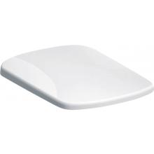GEBERIT SELNOVA SQUARE WC sedátko 35,5x45cm, upevnění shora, automatické spuštění, duroplast, bílá