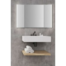 JOKEY SWING LED skládací zrcadlo 110x70cm, s osvětlením, bílá