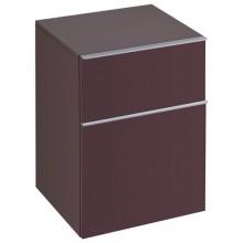 KERAMAG ICON skříňka 45x60cm, postranní, závěsná, burgundy lesklá 840046000