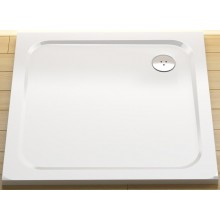 RAVAK PERSEUS PRO CHROME 90 sprchová vanička 900x900mm z litého mramoru, plochá, čtvercová, bílá XA047701010
