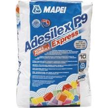 MAPEI ADESILEX P9 EXPRESS cementové lepidlo 5kg, flexibilní, rychletvrdnoucí, šedá