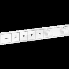 HANSGROHE RAINSELECT termostat pro podomítkovou instalaci pro 4 spotřebiče, bílá mat