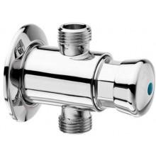 SILFRA pisoárový ventil 90x64mm, tlačný, nastěnný, chrom