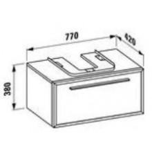 LAUFEN CASE skříňka pod umyvadlo 770x420x380mm 1 zásuvka, noce canaletto/bílá 4.7663.2.070.842.1