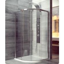 Zástěna sprchová čtvrtkruh Ronal sklo Pur Light S PLSR 55 090 50 07 AQ dvoudílné s posuvnými dveřmi r. 550/900 mm aluchrom Aquaperle