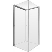 DURAVIT OPENSPACE sprchová zástěna 885x885x2050mm, armatura vpravo, čiré/zrcadlové sklo