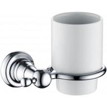 HERITAGE HOLBORN sklenička 95mm s nástěnným držákem, chrom/porcelán