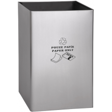 SANELA SLZN49AB odpadkový koš 405x595mm, pro papír, na postavení, obdélníkový nerez