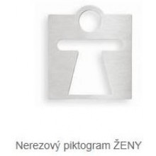 AZP BRNO Z 927 piktogram WC ženy, nerez