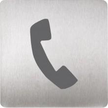 SANELA SLZN44A piktogram telefon, 120x120mm, nerez mat