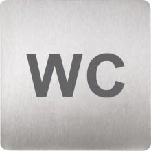SANELA SLZN44T piktogram WC 120x120mm, nerez mat