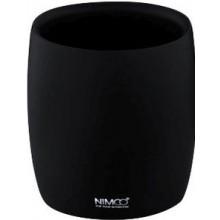 NIMCO AVA pohárek 80x90mm, na kartáčky, polyresin, černá