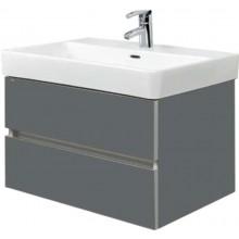 EDEN KŘIŠŤÁL skříňka pod umyvadlo 560x447x445cm, závěsná, mirror gloss/graphite grey