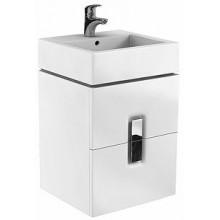 KOLO TWINS skříňka pod umyvadlo 500x460x570mm, závěsná, 2 zásuvky, lesklá bílá