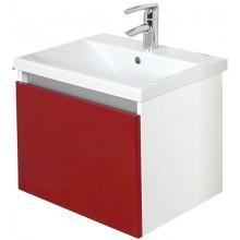 EDEN GRANÁT skříňka s umyvadlem 780x440x390mm, závěsná, zásuvka,  lak bílá lesk/bílá lesk