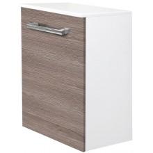 EDEN JANTAR skříňka 390x690x320mm, nízká, závěsná, koš, bílá lesk/bílá lesk