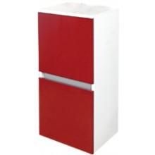 EDEN GRANÁT skříňka 390x840mm střední, závěsná, pravá, bílá/ořech