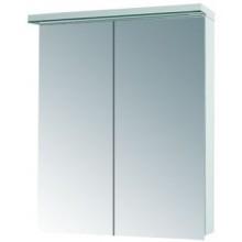DŘEVOJAS ASTON GA 60 2D zrcadlová skříňka 60x21x76,7cm s LED osvětlením, vypínačem a zásuvkou, bílá lesk