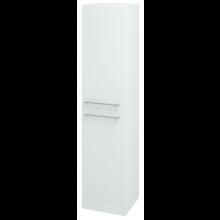 DŘEVOJAS Q SVZ 35 L/P S skříňka vysoká dveřová 35x154,5x35cm, závěsná, vysoký lesk, bílá