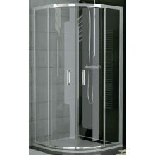SANSWISS TOP LINE TOPR sprchový kout 900x1900mm čtvrtkruh, s dvoudílnými posuvnými dveřmi, matný elox/čiré sklo