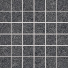 RAKO ROCK mozaika 30x30cm, 5x5cm, mat hladká, černá