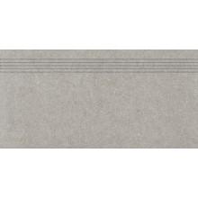 RAKO ROCK schodovka 30x60cm, mat hladká, světle šedá