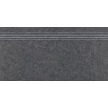 RAKO ROCK schodovka 30x60cm, mat hladká, černá