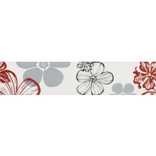 VILLEROY & BOCH MELROSE FLOWER listela 7x30cm, red-grey