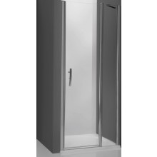 ROLTECHNIK TOWER LINE TDN1/1200 sprchové dveře 1200x2000mm jednokřídlé pro instalaci do niky, bezrámové, stříbro/transparent
