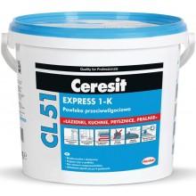 CERESIT CL 51 EXPRESS 1-K hydroizolace 5kg, jednosložková, šedá