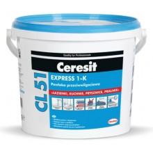 CERESIT CL 51 EXPRESS 1-K jednoslozková hydroizolace 15kg, elastická, šedá