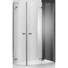 ROLTECHNIK ELEGANT LINE GR2 ASYMMETRIC 120x80L sprchový kout 1200x800x2000mm levý, čtvrtkruhový, s dvoukřídlými otevíracími dveřmi, bezrámový, brillant/transparent