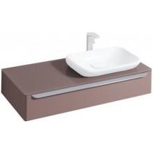 Nábytek skříňka pod umyvadlo Keramag myDay s otvorem pro baterii vpravo 115x20x52cm šedá lesklá