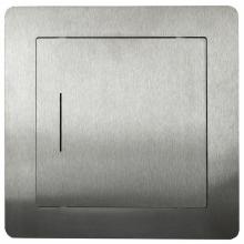 HACO EXKLUZIV 200x200 revizní dvířka 224x15x224mm, otevírání pomocí eurokarty, nerez ocel