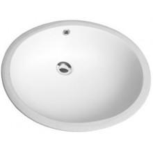 Umyvadlo zápustné Kolo bez otvoru Nova Top 55x46,5 cm bílá