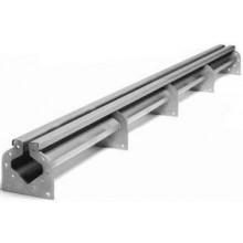 AZP BRNO OZ 02.Z1 podlahový žlab 1000mm, s přírubami, štěrbinový, nerez ocel