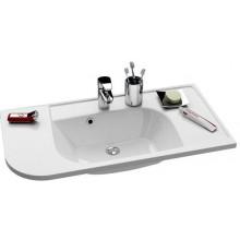 RAVAK PRAKTIK S speciální umyvadlo nábytkové 960x490x190mm z litého mramoru, pravé s otvorem, bílá