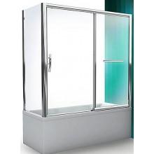 ROLTECHNIK PXV2P/1800 vanová zástěna 1800x1500mm pravá, s posuvnými dveřmi, brillant/transparent
