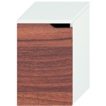 Nábytek skříňka Jika Mio New střední s levými dveřmi 36,3x57,1x34 cm bílá-ořech