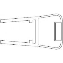 RAVAK ILPEA C1018 těsnící lišta s magnetkou 1950mm