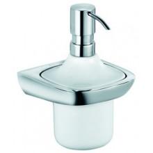 KLUDI AMBA dávkovač tekutého mýdla 110x114x167mm, chrom/bílá